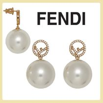FENDI Casual Style Party Style With Jewels Elegant Style Earrings