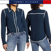 Tommy Hilfiger Casual Style Long Sleeves Plain Medium Shirts & Blouses