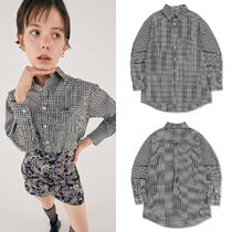 SCULPTOR Gingham Casual Style Street Style Long Sleeves Cotton Medium