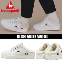 le coq sportif Platform Round Toe Casual Style Unisex Blended Fabrics