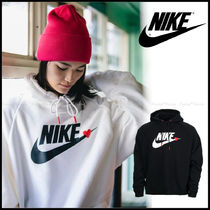 Nike Heart Unisex Street Style Long Sleeves Plain Cotton Medium
