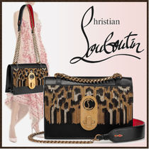 Christian Louboutin Leopard Patterns Calfskin 3WAY Chain Party Style