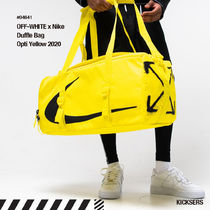 Off-White Unisex Street Style Collaboration Logo Bags