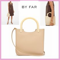 by FAR Casual Style Suede Plain Leather Elegant Style Handbags