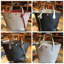 HERVE CHAPELIER Casual Style Nylon Plain Office Style Elegant Style Totes