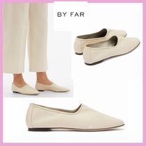 by FAR Round Toe Casual Style Plain Leather Elegant Style
