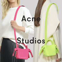 Acne Casual Style 2WAY Plain Leather Purses Bucket Bags