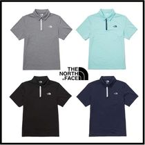 THE NORTH FACE WHITE LABEL Plain Short Sleeves Logo Outdoor Polos