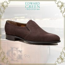 Edward Green Plain Toe Loafers Suede Plain Loafers & Slip-ons