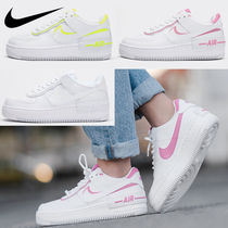 Nike AIR FORCE 1 Platform Casual Style Unisex Street Style Leather