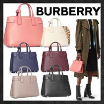 Burberry Tartan Casual Style 2WAY Leather Office Style Elegant Style