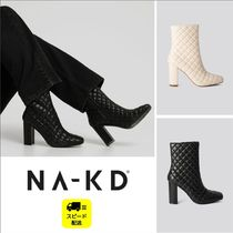 NA-KD Square Toe Casual Style Plain Block Heels Party Style