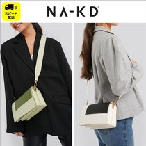 NA-KD Casual Style Faux Fur 2WAY Plain Party Style Shoulder Bags