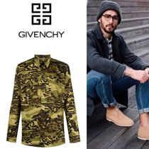 GIVENCHY Camouflage Cotton Shirts