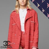 CHANEL Casual Style Plain Cotton Office Style Elegant Style
