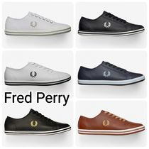 FRED PERRY Unisex Plain Leather Sneakers