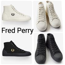 FRED PERRY Unisex Street Style Plain Sneakers