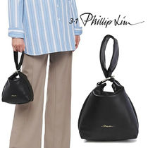 3.1 Phillip Lim Casual Style Plain Leather Party Style Purses Bucket Bags