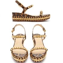 Christian Louboutin Leopard Patterns Leather Heeled Sandals