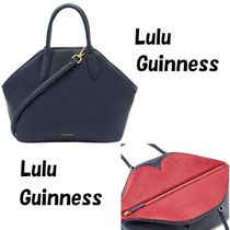 Lulu Guinness Casual Style 2WAY Plain Leather Office Style Handbags