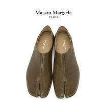 Maison Margiela Tabi Moccasin Plain Leather Khaki Loafers & Slip-ons