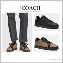 Coach Street Style Plain Leather Sneakers
