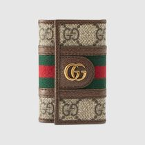 GUCCI Canvas Leather Keychains & Holders