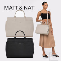 MATT&NAT Casual Style Faux Fur A4 2WAY Plain PVC Clothing