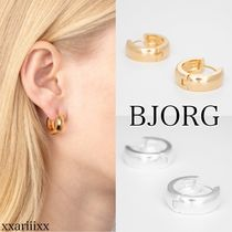 BJORG Casual Style Unisex Party Style Silver Brass Office Style