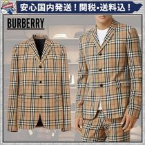 Burberry Short Other Plaid Patterns Wool Blazers Jackets