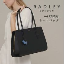 RADLEY A4 Plain Leather Office Style Totes