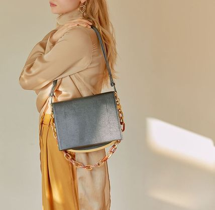 Casual Style Chain Elegant Style Bags
