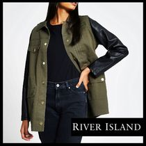 River Island Casual Style Faux Fur Blended Fabrics Street Style Plain