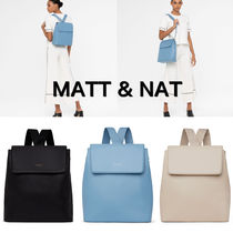MATT&NAT Casual Style A4 2WAY Plain Backpacks