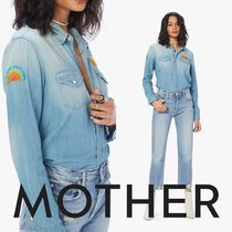 MOTHER Casual Style Denim Long Sleeves Shirts & Blouses