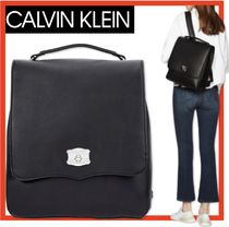 Calvin Klein Casual Style Street Style A4 Backpacks