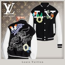 Louis Vuitton Flower Patterns Unisex Wool Blended Fabrics Street Style