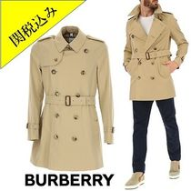 Burberry Short Other Plaid Patterns Plain Trench Coats