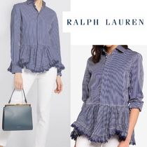 Ralph Lauren Stripes Casual Style Long Sleeves Office Style