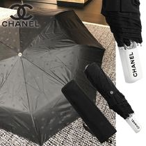 CHANEL Unisex Blended Fabrics Umbrellas & Rain Goods