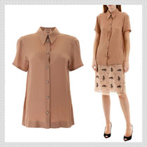 N21 numero ventuno Plain Short Sleeves Shirts & Blouses
