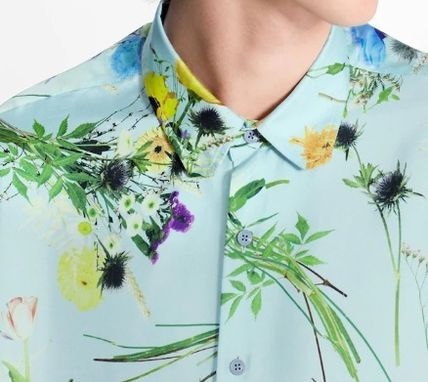 Louis Vuitton Shirts Silk Flower Patchwork Shirt 3