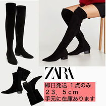 ZARA Casual Style Plain Boots Boots