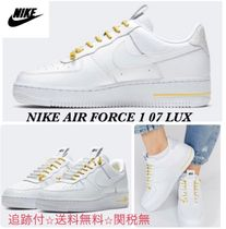 Nike AIR FORCE 1 Round Toe Lace-up Casual Style Unisex Street Style Plain