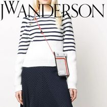 J W ANDERSON Casual Style Bi-color Plain Leather Party Style