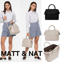 MATT&NAT Casual Style Unisex Nylon A4 2WAY Plain Handbags