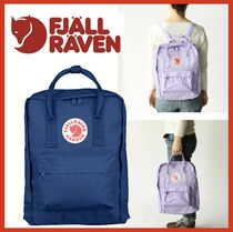 FJALLRAVEN Casual Style Unisex Street Style A4 2WAY Plain Backpacks