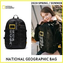 NATIONAL GEOGRAPHIC Casual Style Unisex Nylon Street Style A4 Plain Party Style