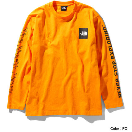 THE NORTH FACE Long Sleeve Crew Neck Long Sleeves Cotton Long Sleeve T-shirt Logo 12