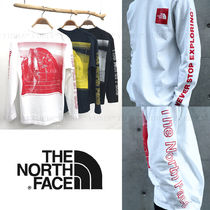 THE NORTH FACE Crew Neck Long Sleeves Cotton Long Sleeve T-shirt Logo